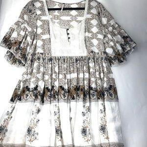 Free People Boho Bell Sleeve Tunic Dress